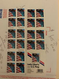 2005 STATUE OF LADY LIBERTY & US AMERICAN FLAG: MNH 20 First Class STAMPS, #3973