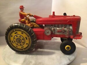 LARGE BATTERY OP FARM TRACTOR BY MARX TOYS 10 INCH