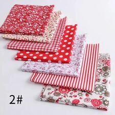 7PCS 100% Cotton Fabric Assorted Pre-Cut Fat Quarters Bundle DIY Decor 25*24cm