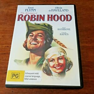 The Adventures of Robin Hood DVD Errol Flynn R4 Like New! FREE POST