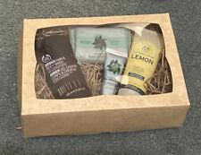 The Body Shop Mens Gift Set Arber Hair Body Wash Lemon Face Wash Fuji Handcream