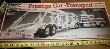 REVELL 7432 PRESTIGE CAR AUTO TRANSPORT TRAILER & PETERBILT 359 1/25 McM Nib