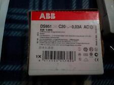 ABB DIFFERENZIALE MAGNETOTERMICO DS951 C20 0,03A AC EB 1385