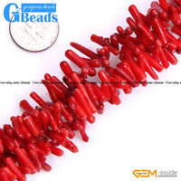 Coral Gemstone Branch Stick Beads For Jewelry Making Free Shipping 15""