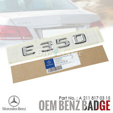 GENUINE OEM MERCEDES BENZ E350 CHROME REAR TRUNK BOOT EMBLEM BADGE AMG GERMANY