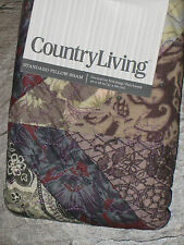 Country Living Odessa Multi Patchwork Standard Pillow Sham New