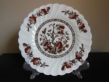 "Myott~Staffordshire Salad Plate DYNASTY Swirled 8"" Brown ""Indian Tree"" Design"