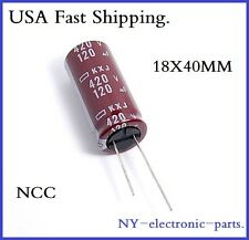 120UF 420V NCC RADIAL ELECTROLYTIC CAPACITOR.KXJ.18X40MM.1PIECE
