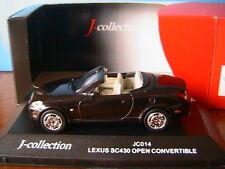 LEXUS SC430 OPEN CONVERTIBLE J-COLLECTION BLACKISH RED 1/43 CABRIOLET OUVERT LHD