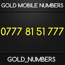GOLD 0777 GOLDEN EASY VIP DIAMOND PLATINUM 0777 MOBILE NUMBER 07778151777