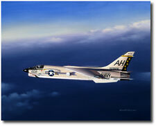 Twilight Gator by Mike Machat - F-8E Crusader - Aviation Art Print