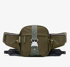 $595 New MCM London Green Nylon Jemison Crossbody 2 in 1 Bag MUR9AJV01GX001