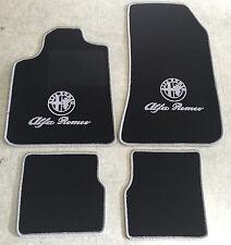 Autoteppich Fußmatten für Alfa Romeo Brera schwarz silber Logo Schrift Neu 4tlg.