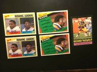 ERIC DICKERSON TOPPS 1983 (5)LEADERS ROOKIE CARDS #276-+1985-NM-MT-FREE SHIP