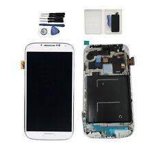 Per Samsung Galaxy S4 i9505 LCD Display Touch Screen Digitizer w/ Frame Bianco