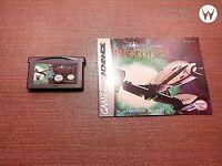 Nintendo Game Boy Advance GBA Cartridge Manual Wing Commander Prophecy Ships Fas