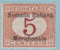 Somalia J1 Mint Hinged OG * - No Faults Very Fine!