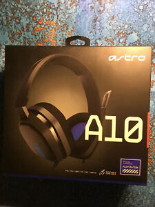 New Astro A10 Wired Stereo Gaming Headset - Blue/black