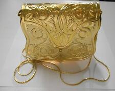 Vintage c1960~Judith Leiber~Gold Plated Metal Repoussé Design~Evening Bag/Purse