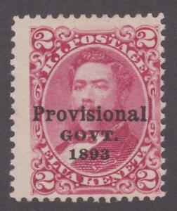 Hawaii1893 #6 King Kamehameha (Provisional Govt. overprint in black) - F MnG