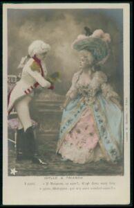 Victorian love romance couple original old 1900s photo postcard lot set of 10