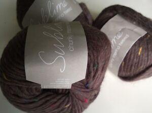 Knitting Yarn - SUBLIME ~ chunky merino tweed ~80% merino wool knits to chunky