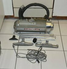 1950s Electrolux model 30/XXX canister vacuum w/tools+floor polisher