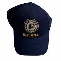 NBA Indiana Pacers Adidas Strapback Cap Hat NavyBlue/ GoldBasketball