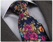 NUOVO stilista italiano Blu Navy e rosa floreale SILK TIE