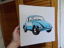 Pour fans deco garage voiture auto VW Volkswagen Cox Coccinelle cadre toile