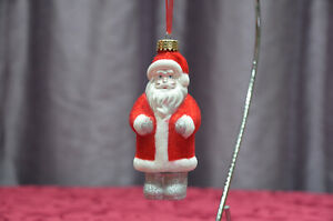 13cm Glass Hanging Santa Claus Red Bauble Christmas Tree Ornament - John Lewis