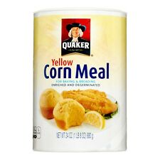 Quaker (1) Yellow Corn Meal  for Baking and Breading (1-24oz) Container