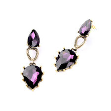 NEW Urban Anthropolo​​gie Capucine Purple Beaded Gold Drop Earrings