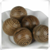DIY Spacer Wenge 6-30mm Making Round Natural Beads Loose Wood 50pcs Handmade