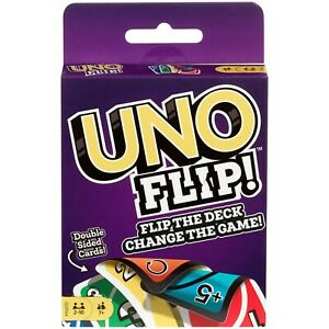 Mattel Games  UNO Flip GDR44 Double Sided Card Game for 2-10 Players Ages 7Y+