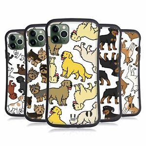 HEAD CASE DOG BREED PATTERNS 3 HYBRID CASE & WALLPAPER FOR APPLE iPHONES PHONES
