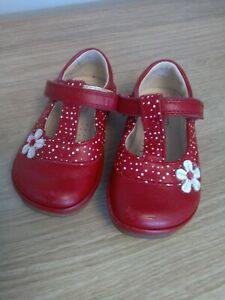 Baby Girls Clarks Shoes Size 4F
