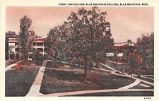 Mississippi postcard Blue Mountain, Blue Mountain College, Front Campus View