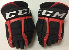 "CCM U+ CL Crazy Light 14"" Pro Stock Hockey Gloves Black Chicago Blackhawks 2948"
