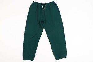 Vintage 90s Streetwear Mens XL Blank Faded Sweatpants Joggers Jogger Pants Green