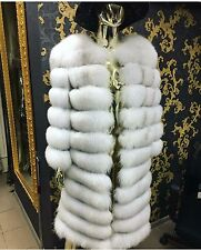 "New Polar Fox Natural Fur 4 styles in 1 Coat Vest Size 46 color ""Chipped Ice"""