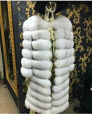 """New Polar Fox Natural Fur 4 styles in 1 Coat Vest Size 46 color """"Chipped Ice"""""""