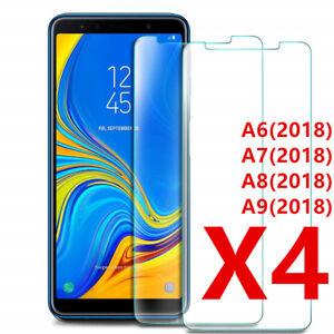 Vetro Samsung A6 Plus A7 A8 A9 2018 Protezione Film Temprato Schermo LOT1/4