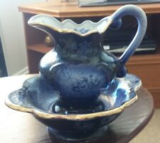 Decorative Jug & Bowl Bairstow Manor Pottery  GTC