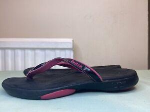 Reebok Women's Black Flip Flops Size UK 6