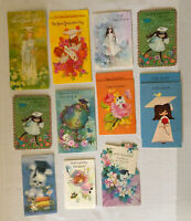 Vintage Graduation Cards Girls Puppy Kitty Lot