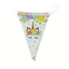 10pcs banderas/Set unicornio colgante papel bandera guirnalda