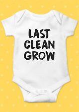 Last Clean Grow Heart Smiley Funny Cool Baby Shower Boy Girl Bodysuit Romper 7