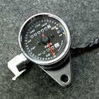 Motorcycle Dual Odometer Speedometer Gauge LED Backlight Signal Universal