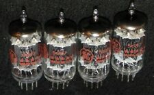 RARE NOS QUAD FIVE STAR GENERAL ELECTRIC 5687 / 5687WA WB TUBE'S 1960 RED LOGO